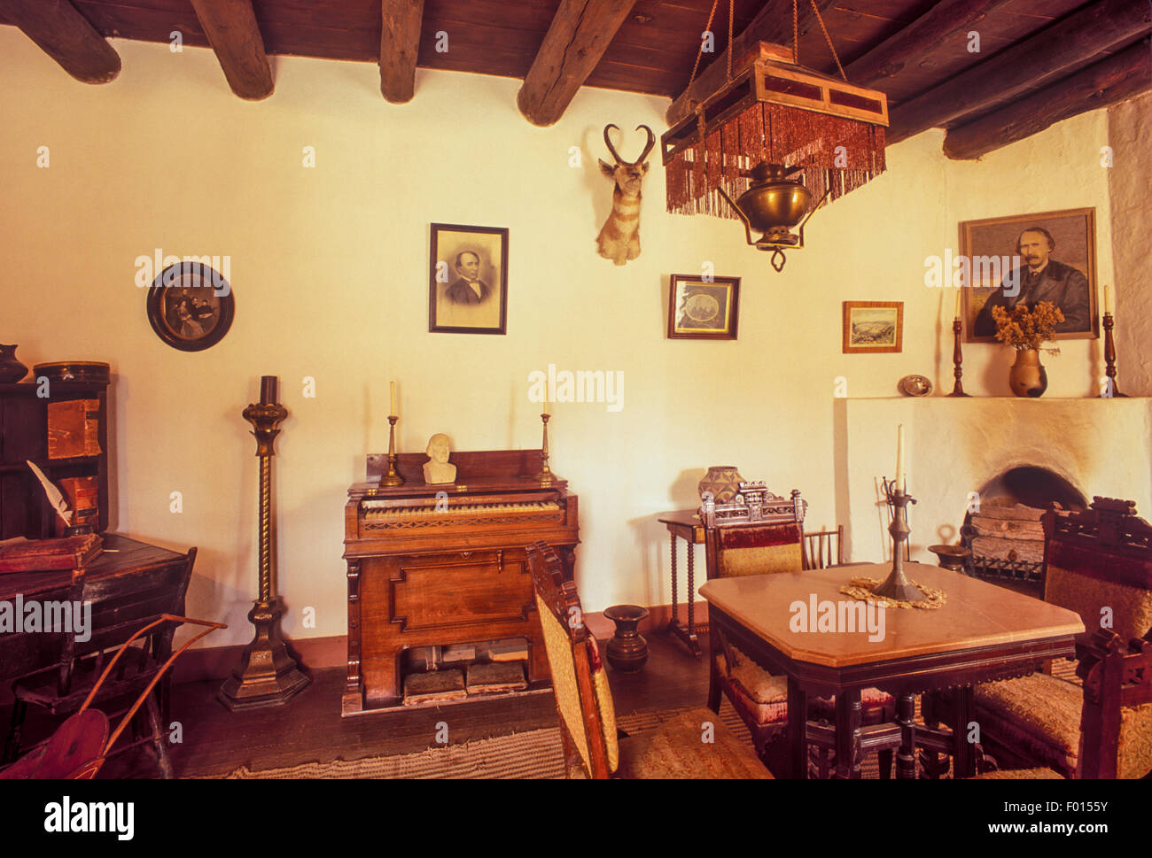 New mexico taos county carson -  Living Room Kit Carson House Taos New Mexico Stock Photo