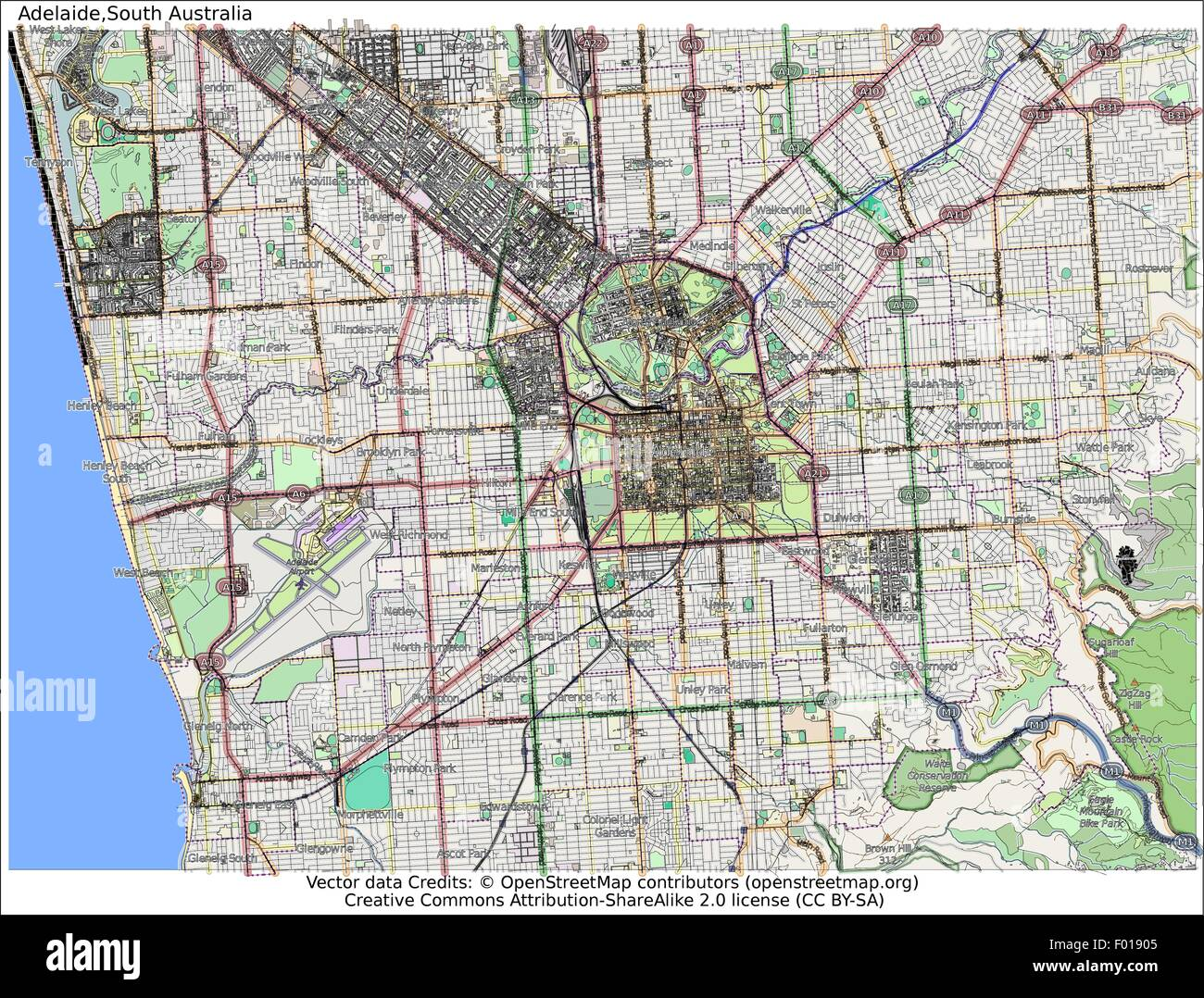 Adelaide south australia city map aerial view stock vector art adelaide south australia city map aerial view gumiabroncs Image collections