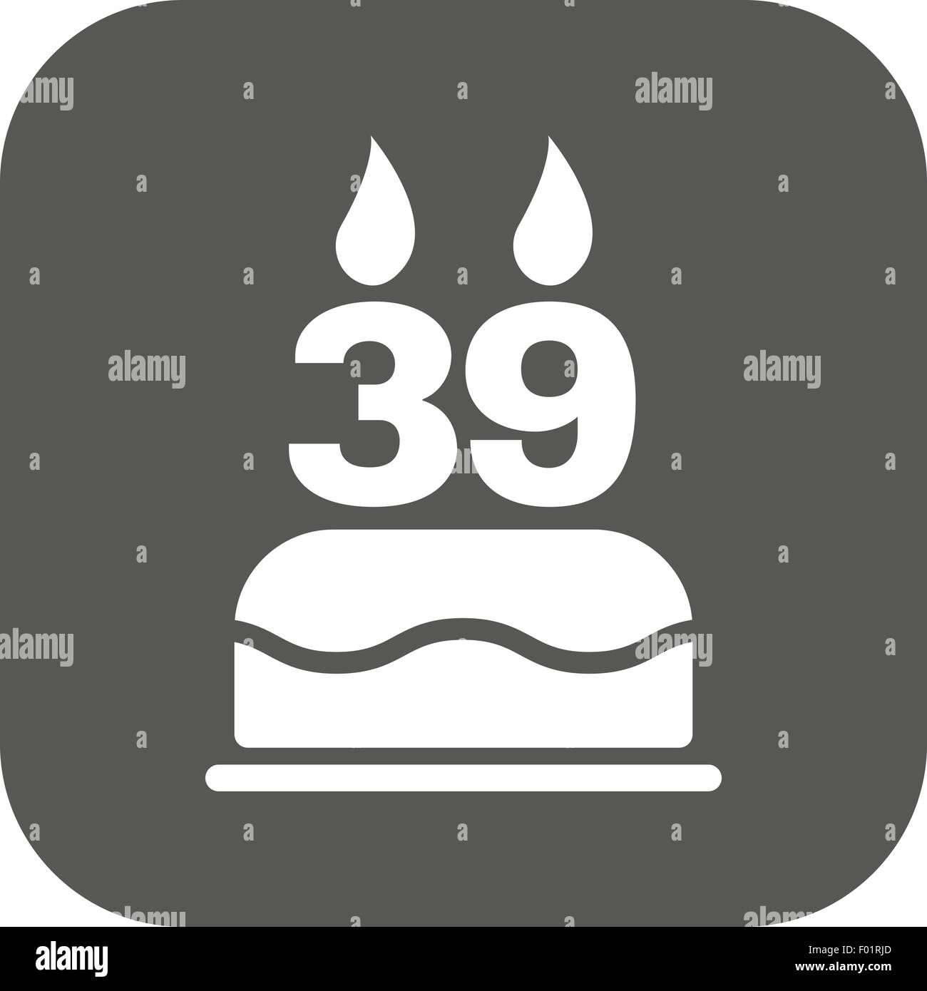 The birthday cake with candles in the form of number 39 icon stock the birthday cake with candles in the form of number 39 icon birthday symbol flat buycottarizona
