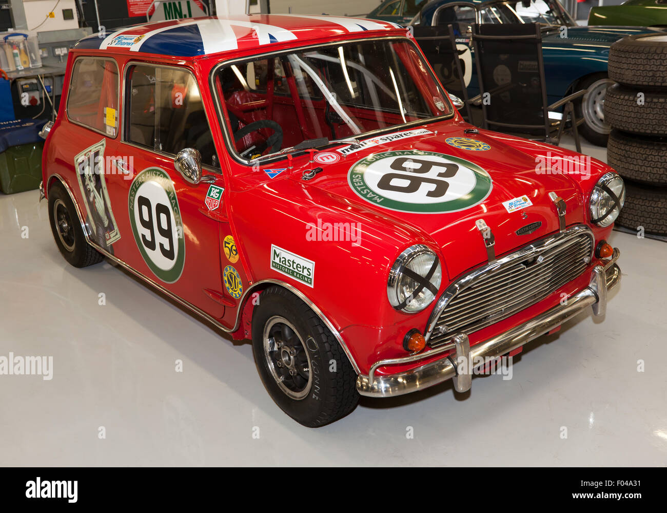 A 1970 39 s mini cooper s mk iii in the national paddock for Garage mini cooper annemasse