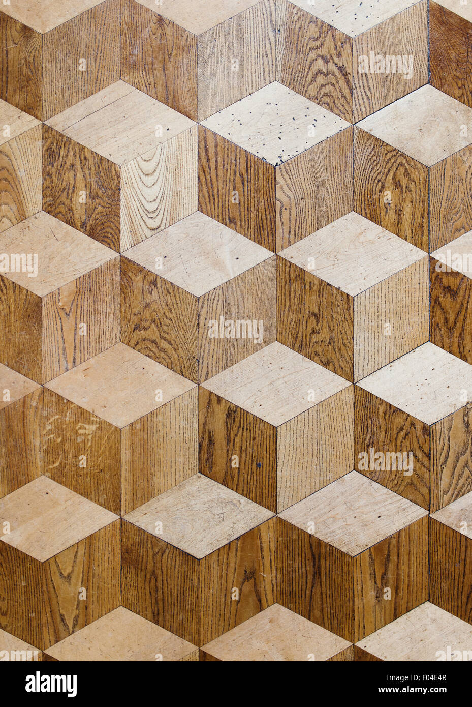 Old palace wooden parquet flooring design with volume cubes old palace wooden parquet flooring design with volume cubes illusion stock photo dailygadgetfo Image collections