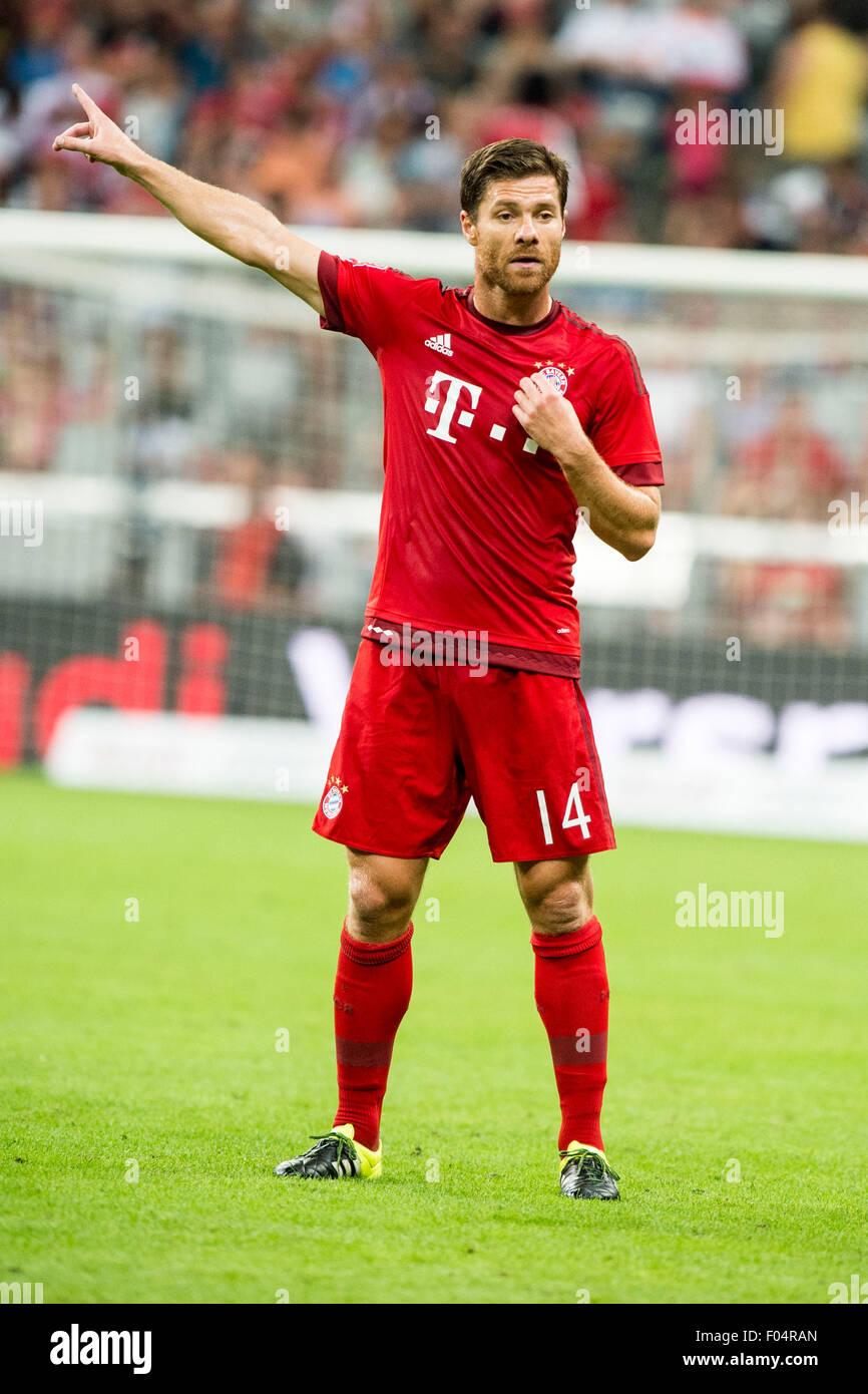 Munich Germany 4th Aug 2015 Xabi Alonso Bayern Football