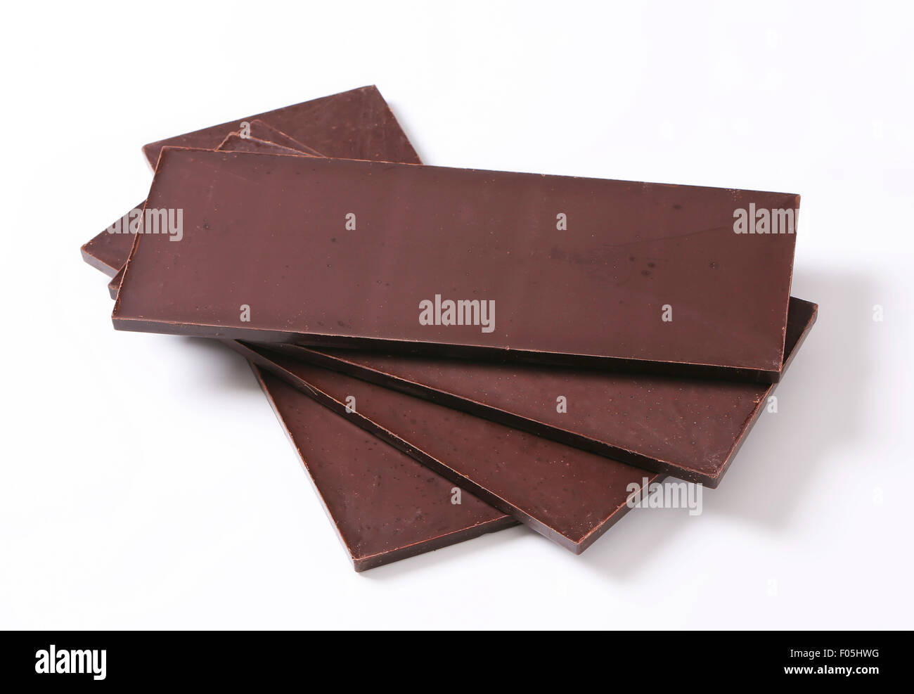 Couverture chocolate bars - studio shot Stock Photo, Royalty Free ...