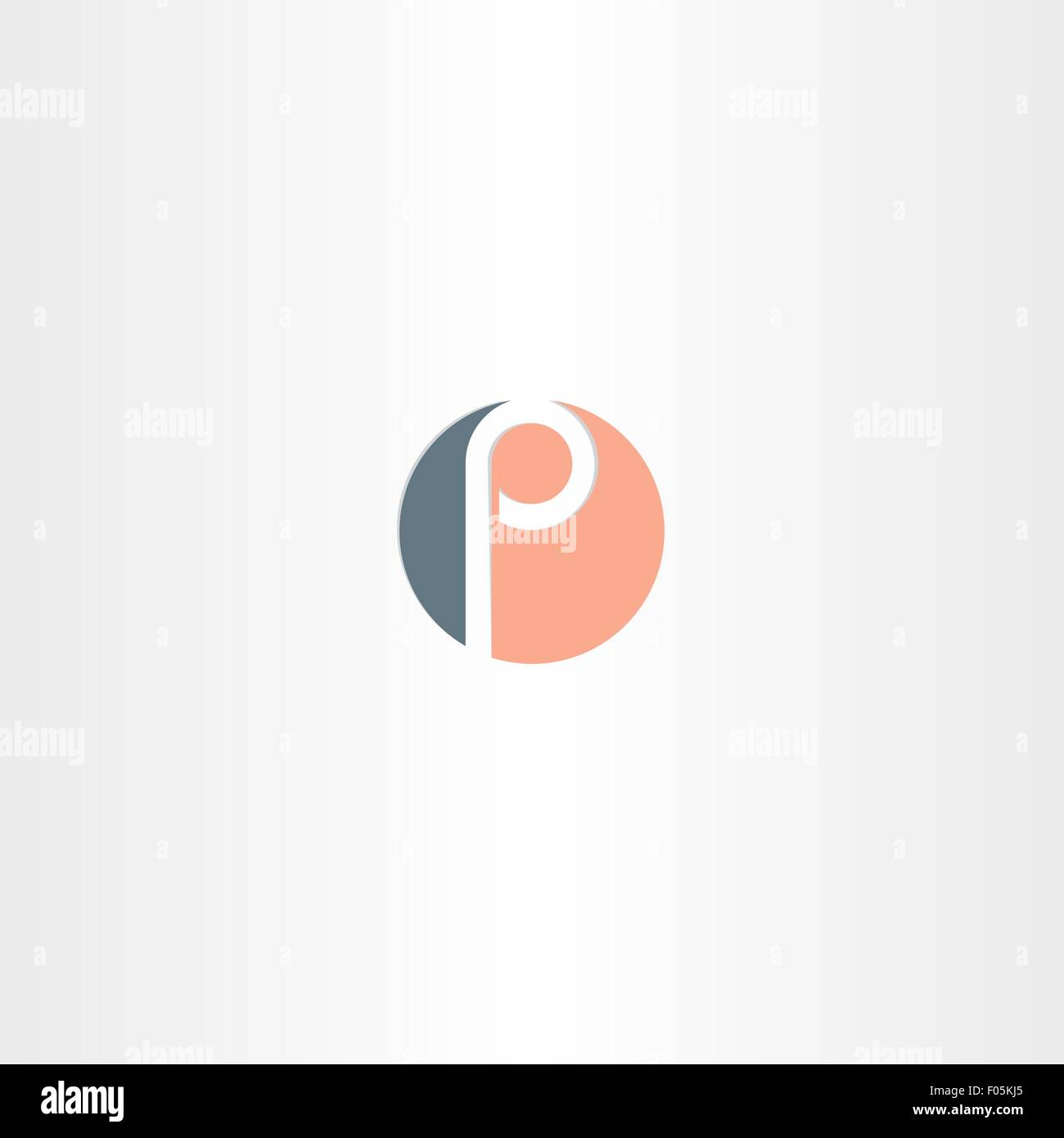 Circle icon letter p vector logo symbol element design stock circle icon letter p vector logo symbol element design biocorpaavc