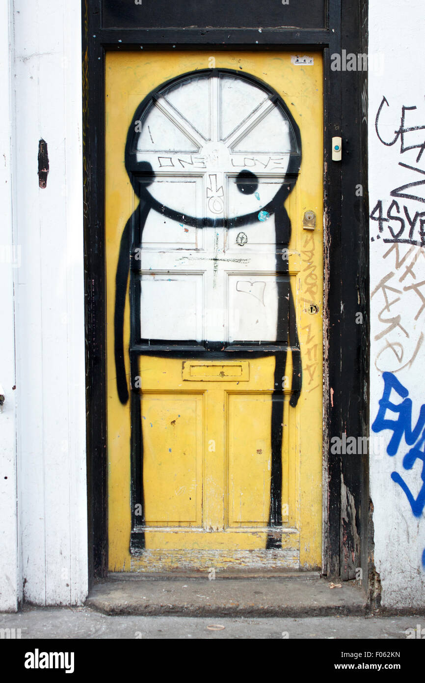 Graffiti cartoon character painted onto yellow door Brick Lane London & Graffiti cartoon character painted onto yellow door Brick Lane ... pezcame.com
