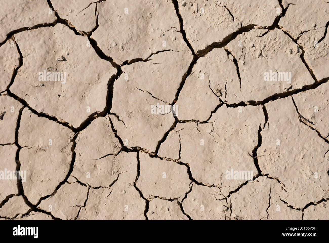 Textural Surface Of Dry Cracking Parched Earth Closeup For Textural Stock .