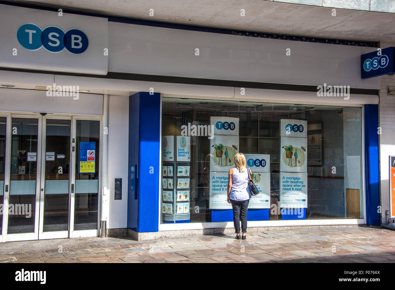 Magnificent Bulldog Security Remote Starter With Keyless Entry Tiny Guitar Pickup Installation Round Security Bulldog How To Wire Guitar Old 5 Way Switch Telecaster BrightAuto Electrical Wire A Woman Looking In The Window Of The TSB Bank On High Street Stock ..