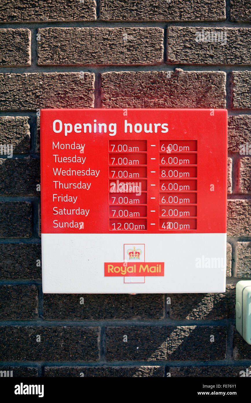 Post Office Opening Hours Stock Photo, Royalty Free Image ...