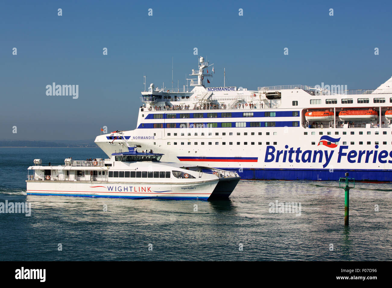 View Of The Brittany Ferries Car Ferry Normandie Leaving