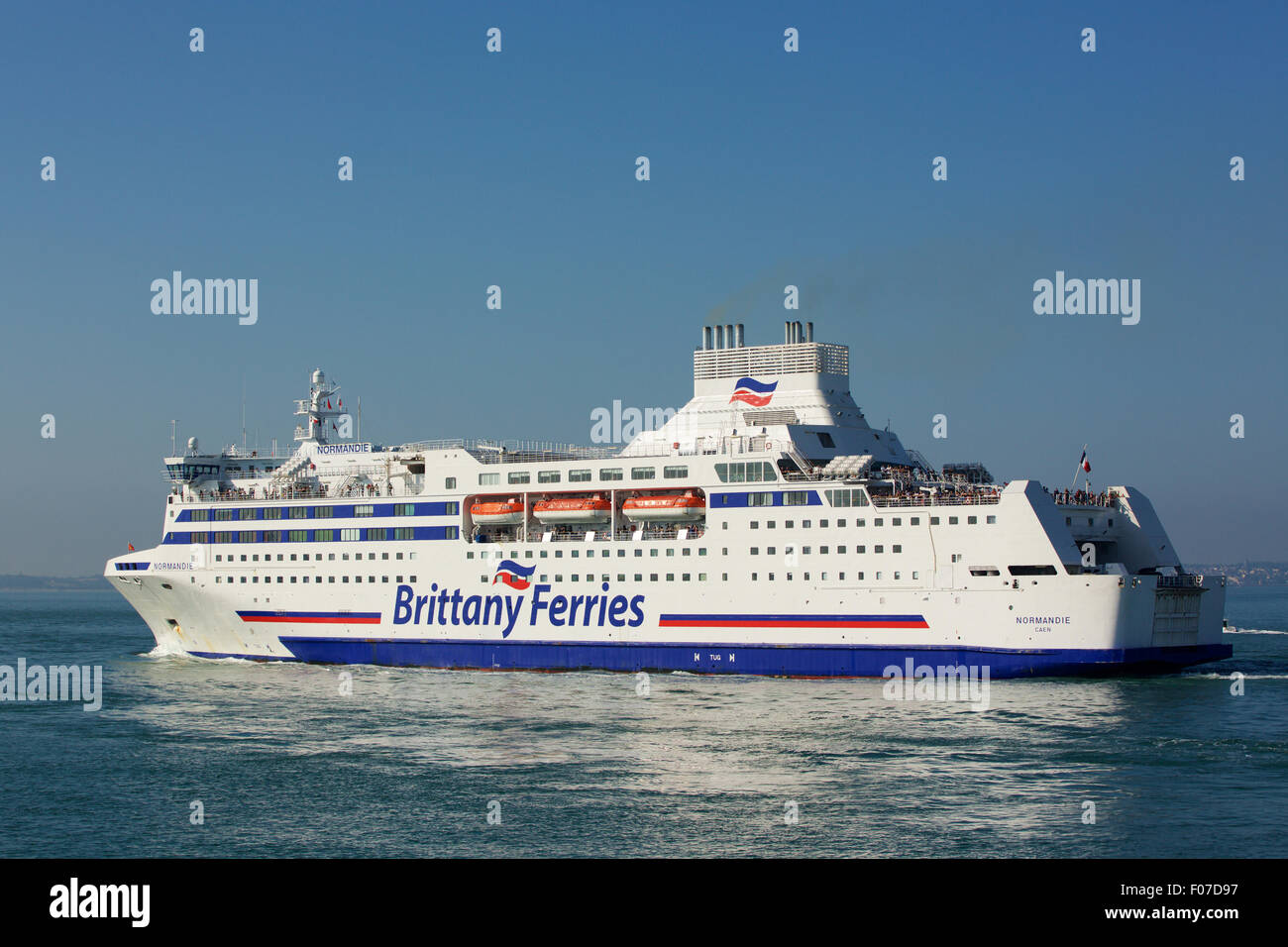Cross Channel Ferry View Of The Brittany Ferries Car Ferry
