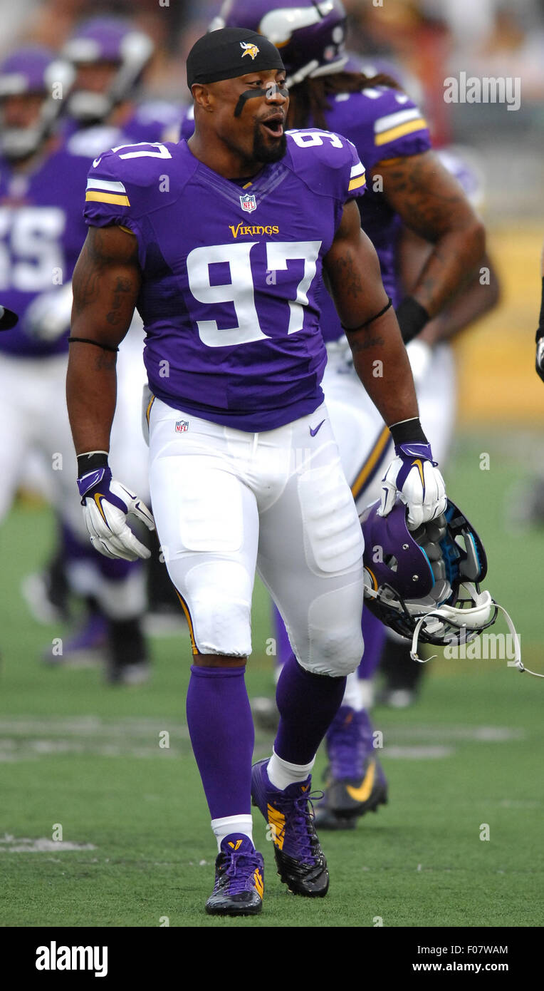 Canton Ohio 9th Aug 2015 Everson Griffen 97 during the NFL