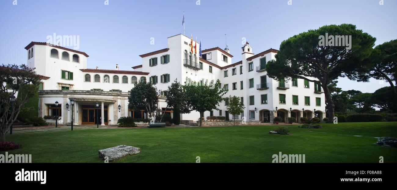 View of hotel de la gavina in s 39 agaro girona spain stock for Hotel la gavina