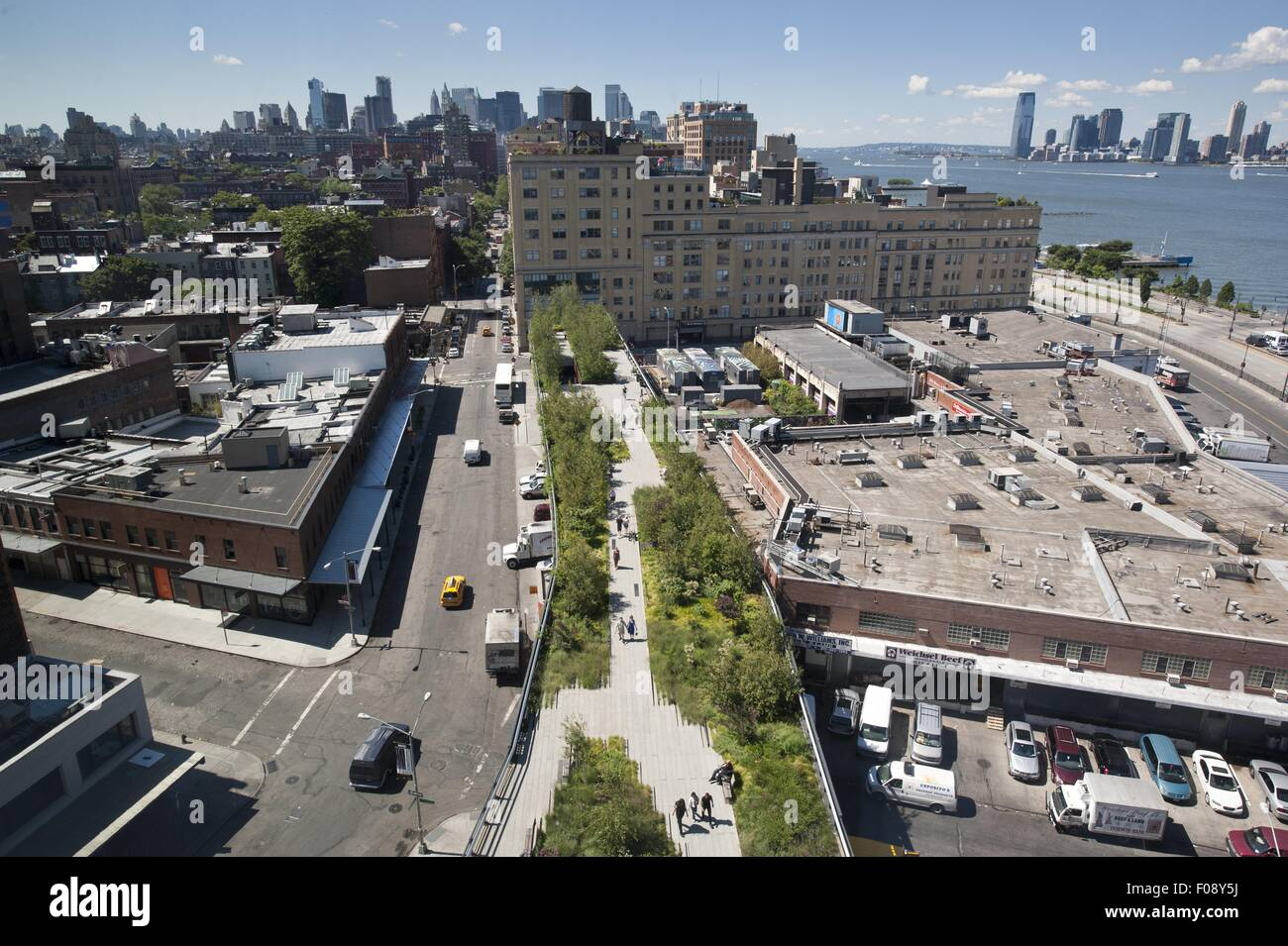 View of harbour from the standard high line hotel in new for The highline hotel new york