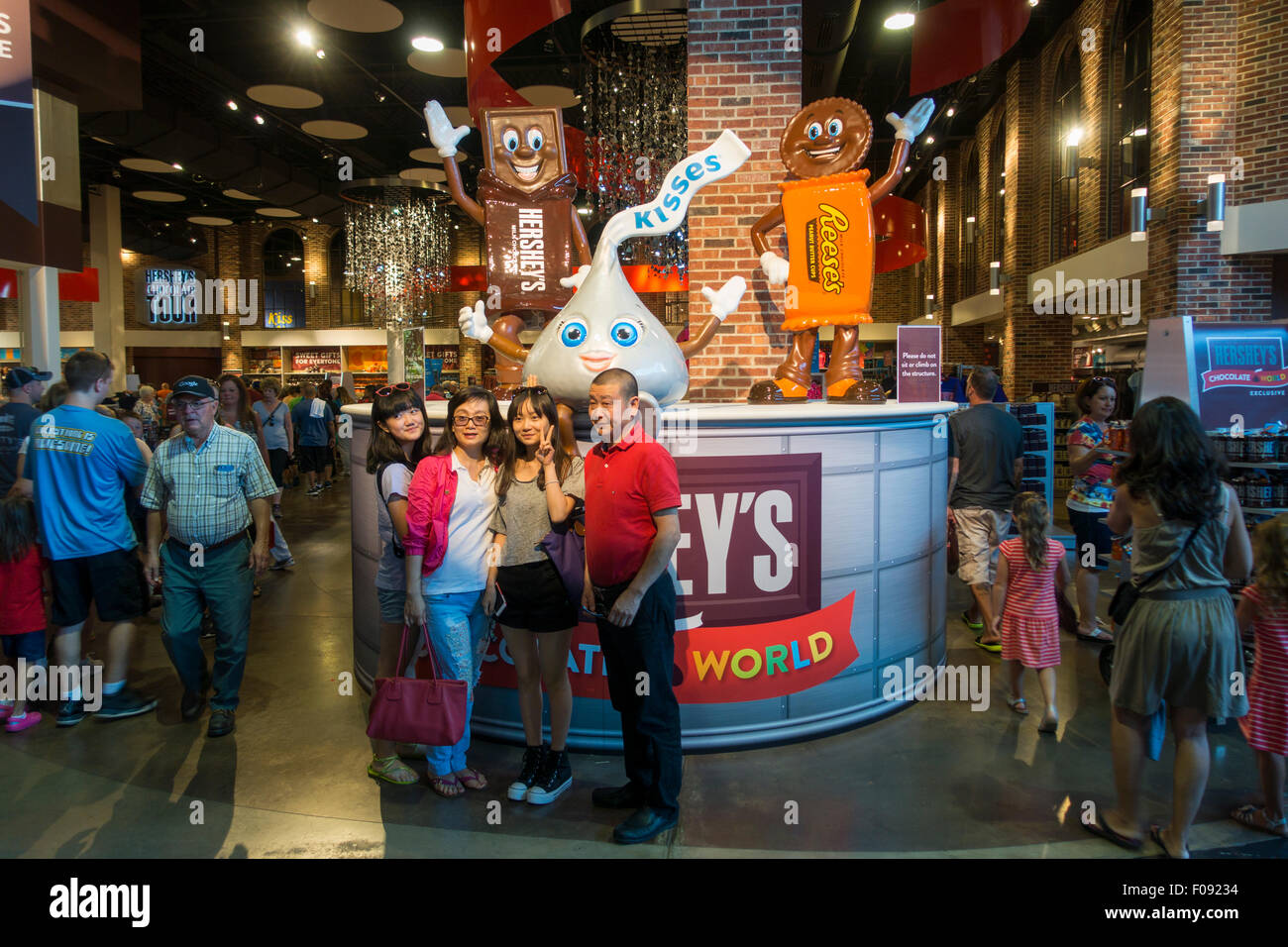 Hershey's Chocolate World tour in Hershey PA Stock Photo, Royalty ...