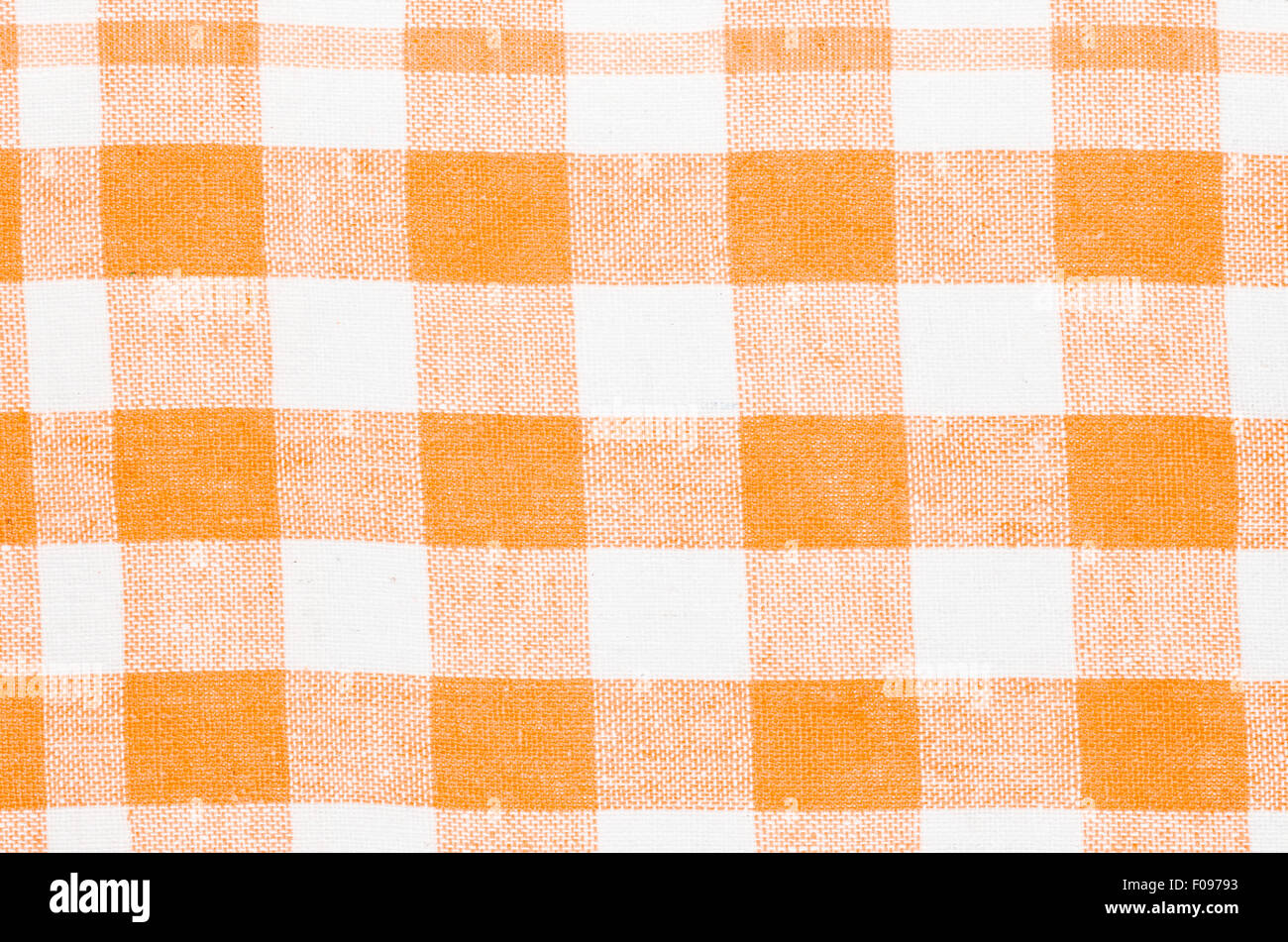 Orange And White Kitchen Checkered Orange And White Kitchen Towel Background Texture Stock