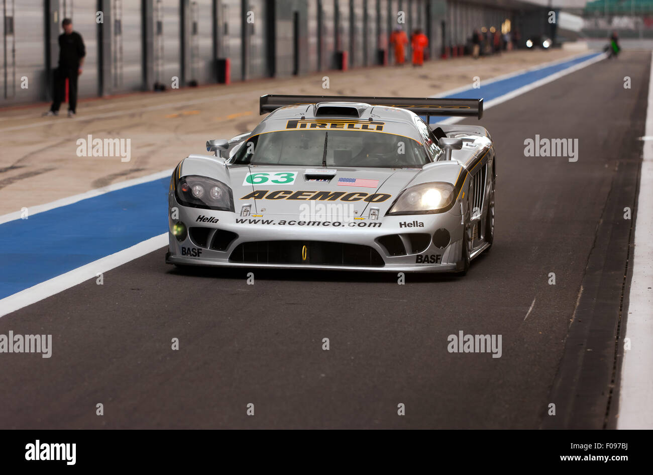 The ACEMCO Motorsports Saleen S7R, in the International Paddock pit ...