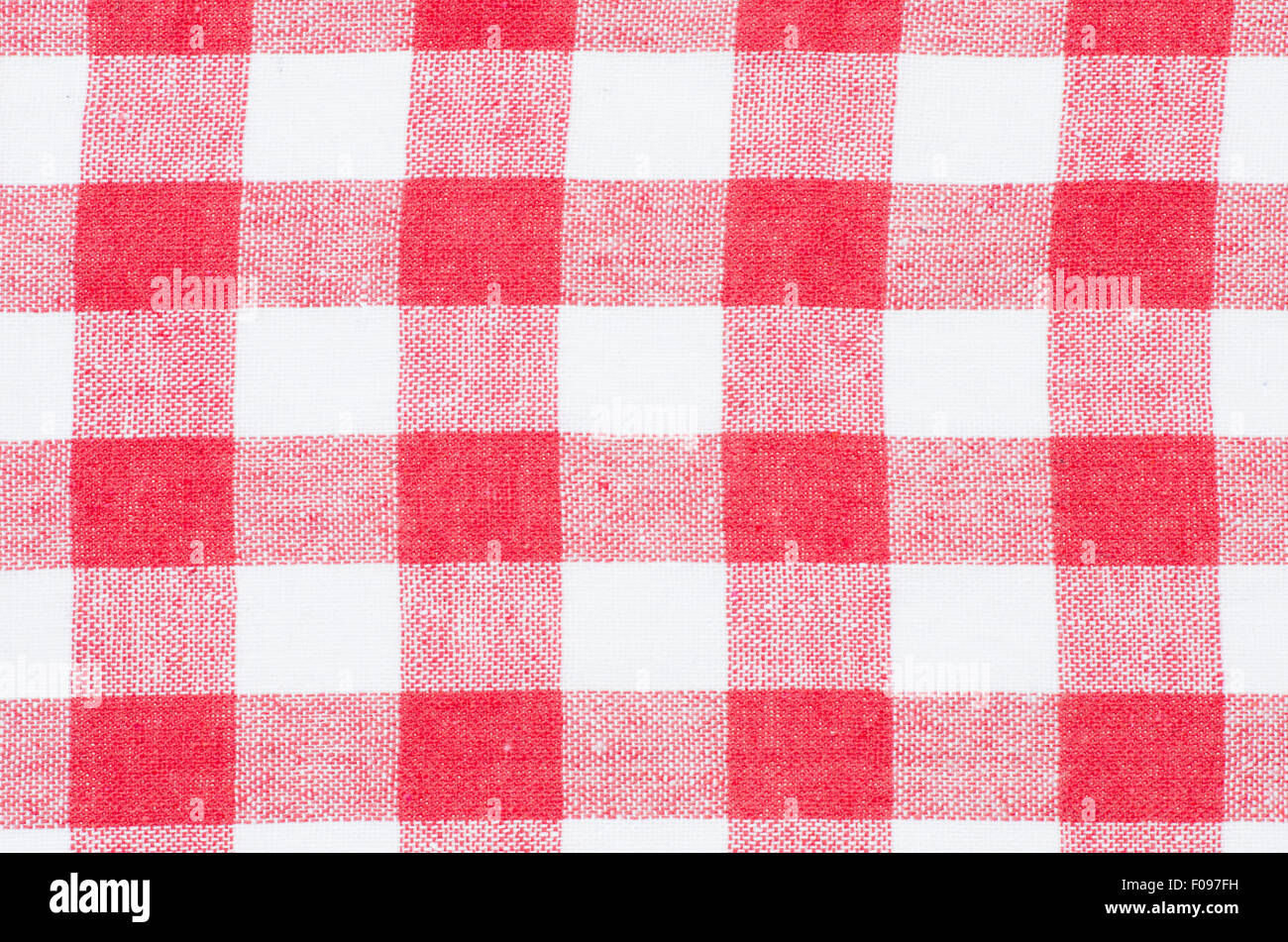 Stock Photo   Checkered Red And White Kitchen Towel Background Texture