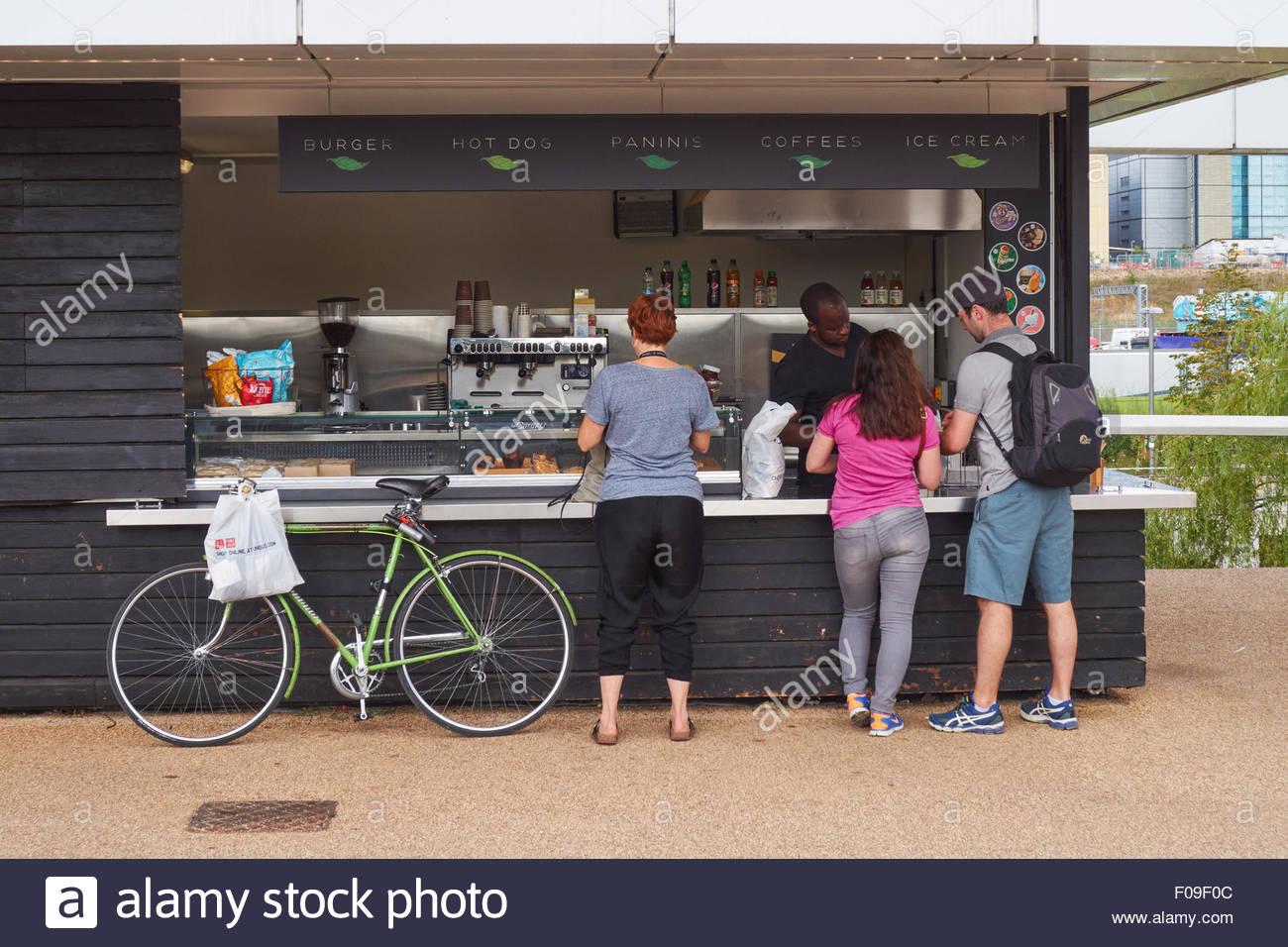 Cafe Take Away At Queen Elizabeth Olympic Park London England United Kingdom UK