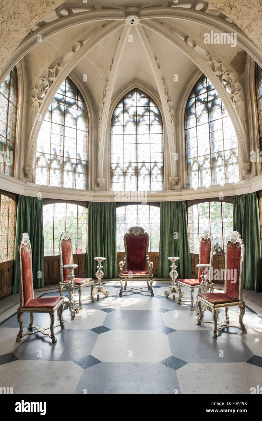 view of silver furniture of king george ii at marienburg castle