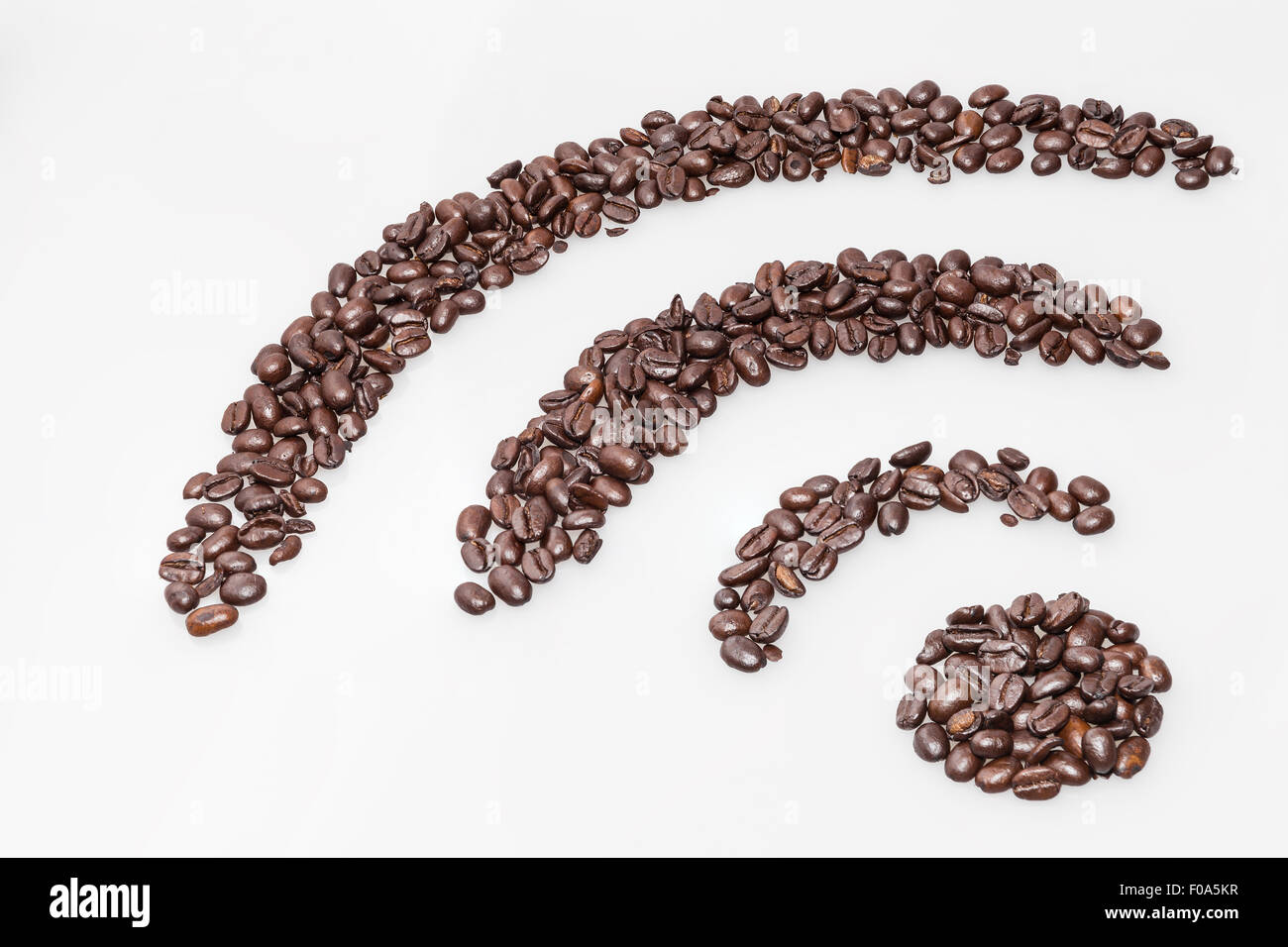 Wifi internet connection symbol made with coffee beans stock photo wifi internet connection symbol made with coffee beans buycottarizona Images