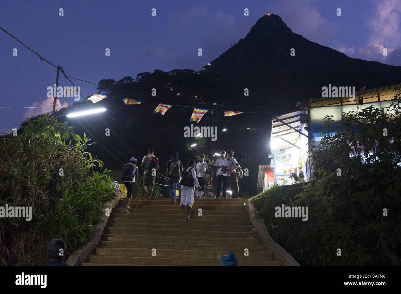 Sri Mariamman Temple at night. Chinatown, Singapore Stock Photo ...