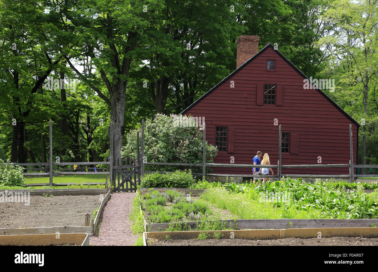 Stock Photo   Vegetable Garden In Jockey Hollow Morristown National  Historical Park Morristown New Jersey USA