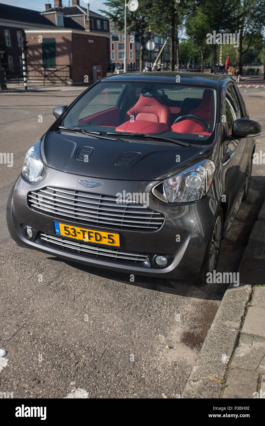 An Aston Martin Cygnet City Car On The Street In Amsterdam
