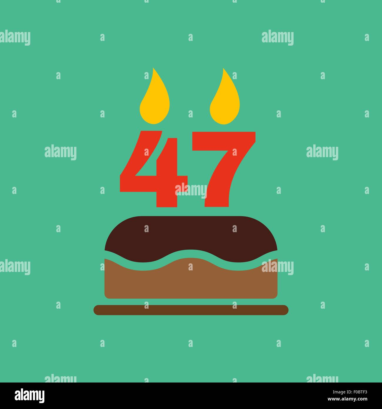 The birthday cake with candles in the form of number 47 icon stock the birthday cake with candles in the form of number 47 icon birthday symbol flat buycottarizona