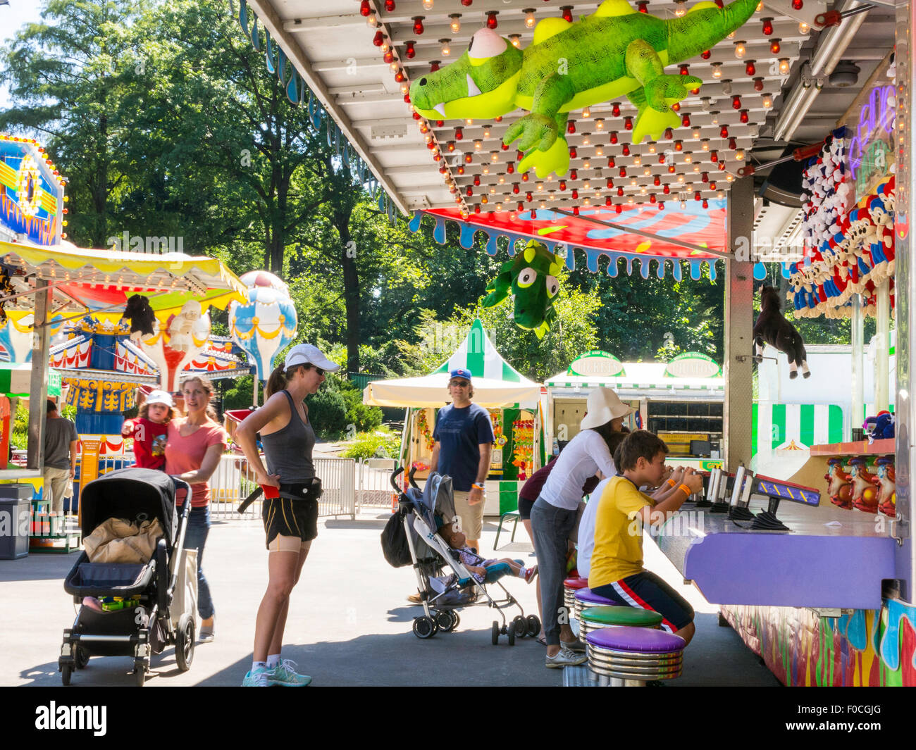 Victorian Gardens Carnival In Central Park Nyc Stock Photo Royalty Free Image 86328328 Alamy