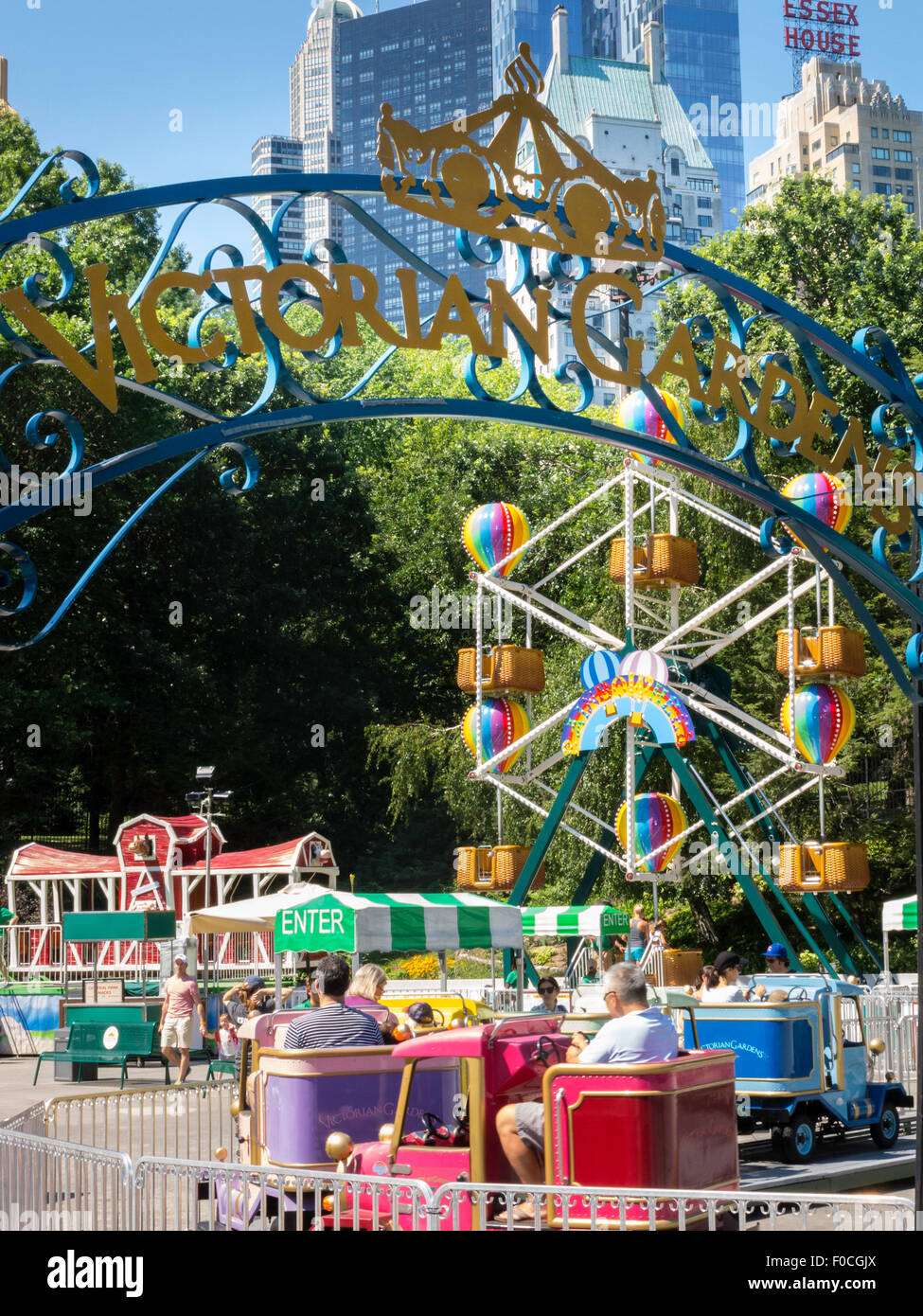 Victorian Gardens Carnival Rides In Central Park With