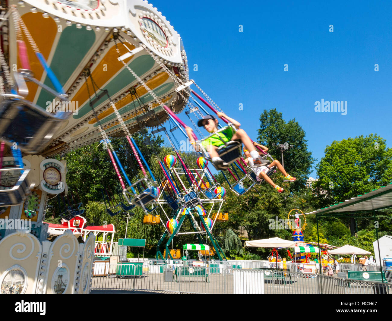 Victorian Gardens Carnival In Central Park Nyc Stock