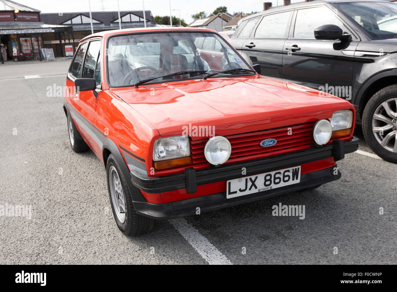 first generation ford fiesta mk1 super sport anglesey north wales uk stock photo royalty free. Black Bedroom Furniture Sets. Home Design Ideas