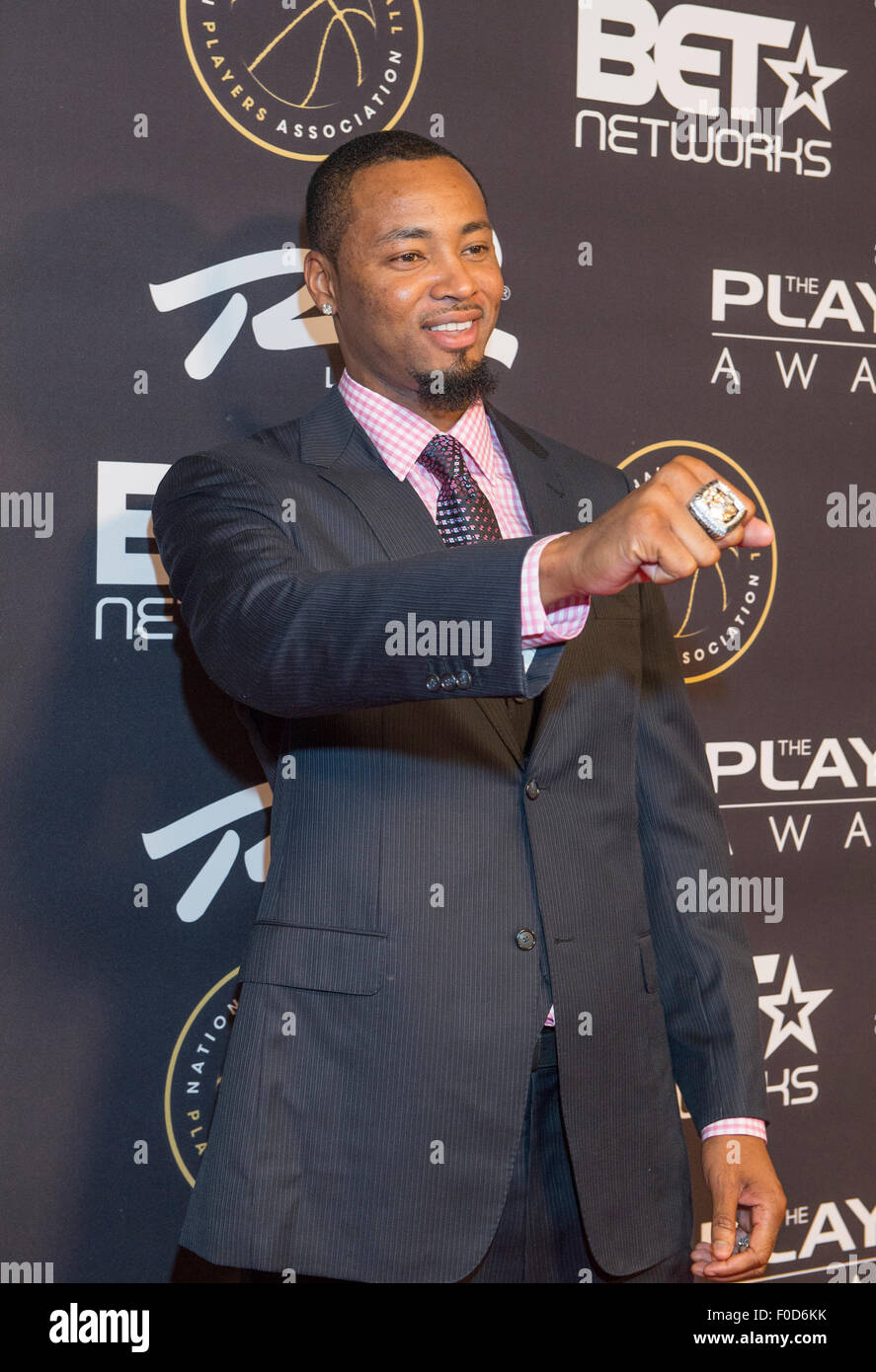 NBA player Rashard Lewis attends The Players Awards at the Rio