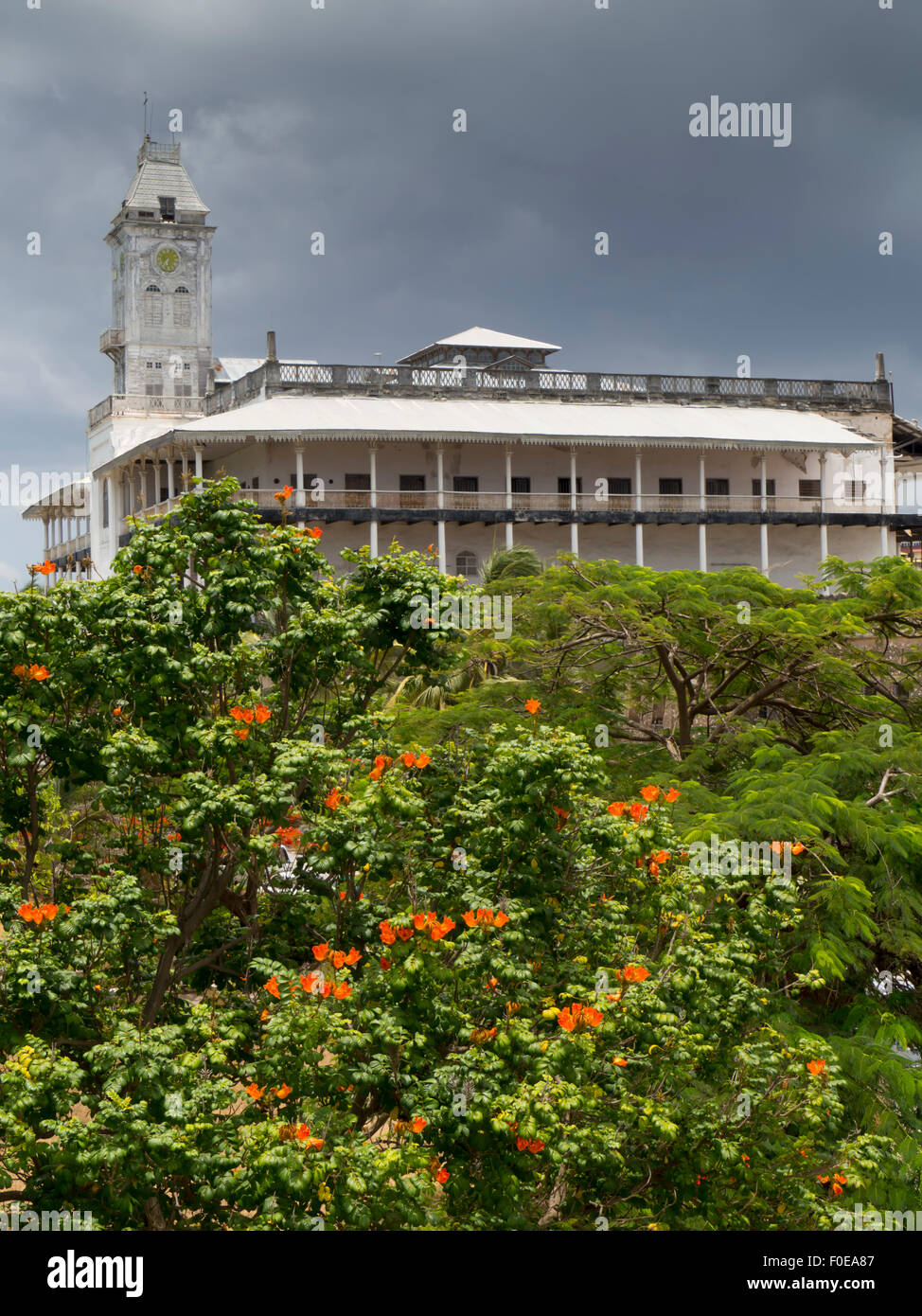 east africa tanzania zanzibar stone town house of wonders stock photo royalty free image. Black Bedroom Furniture Sets. Home Design Ideas