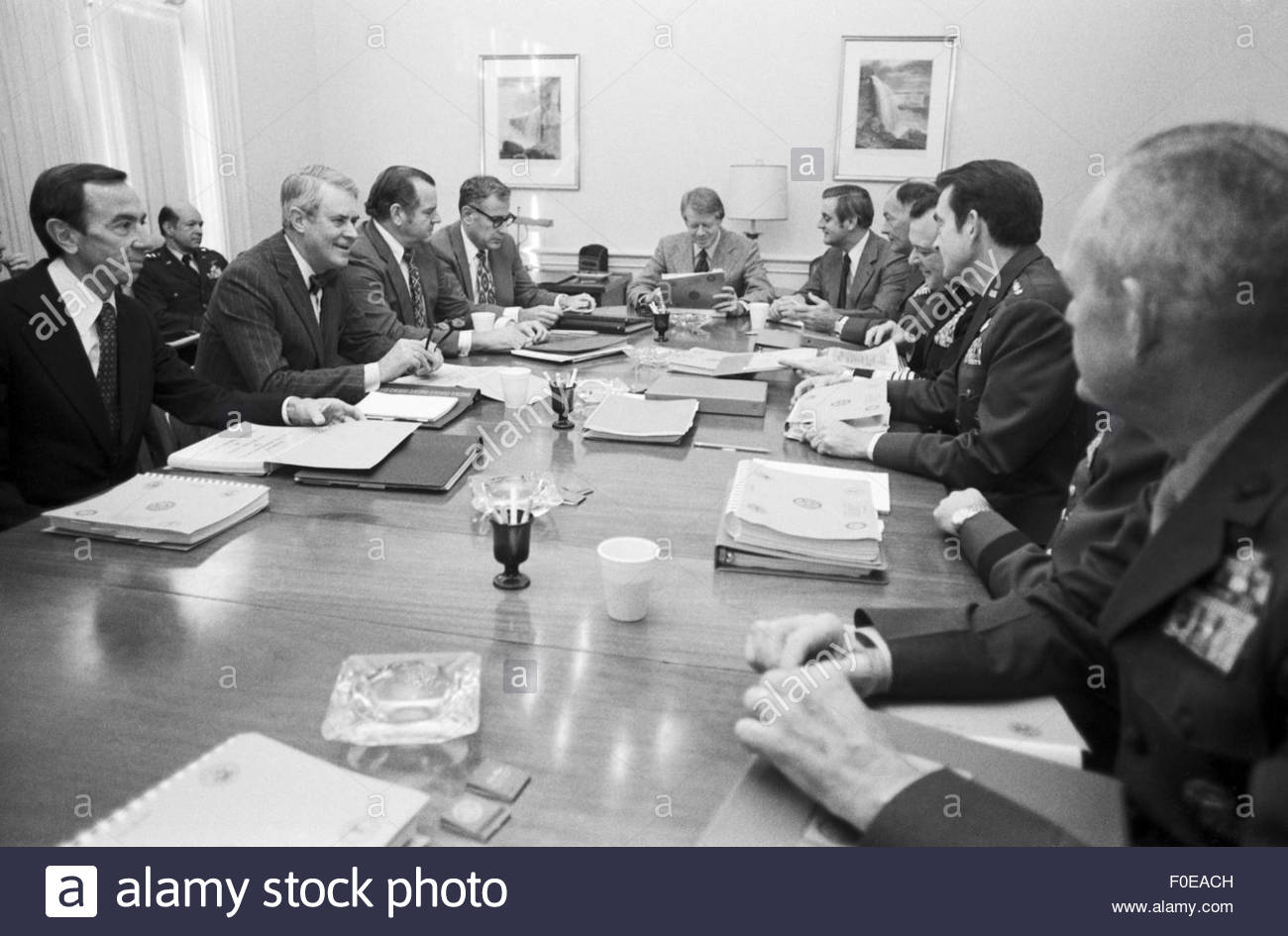 June 1, 1977 - President Jimmy Carter at a meeting of his cabinet ...