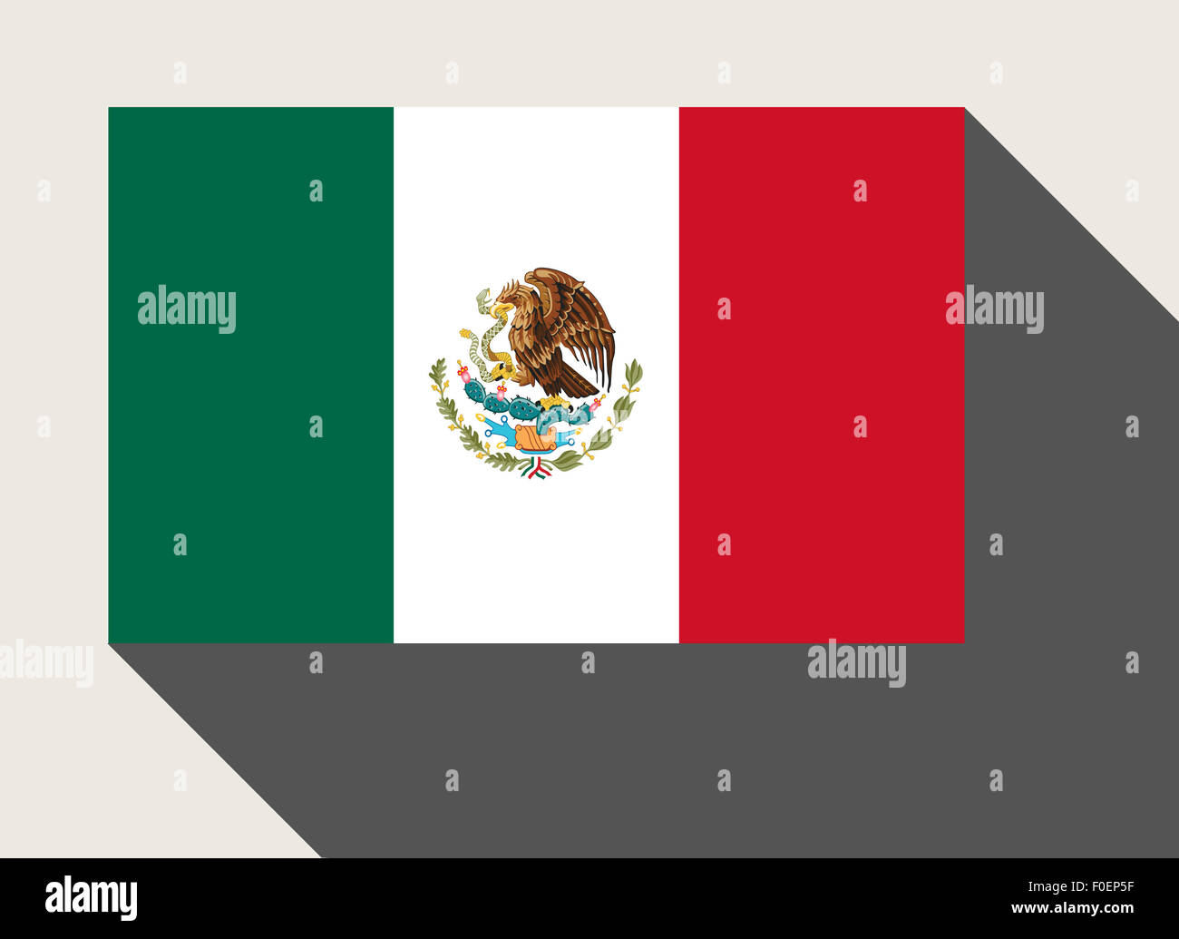mexico flag in flat web design style stock photo royalty free