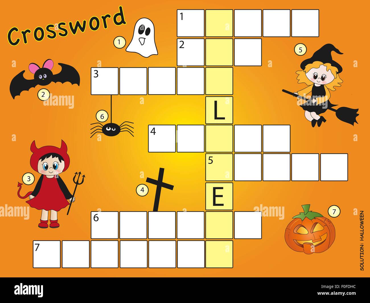 Halloween crossword game Stock Photo, Royalty Free Image: 86391800 ...