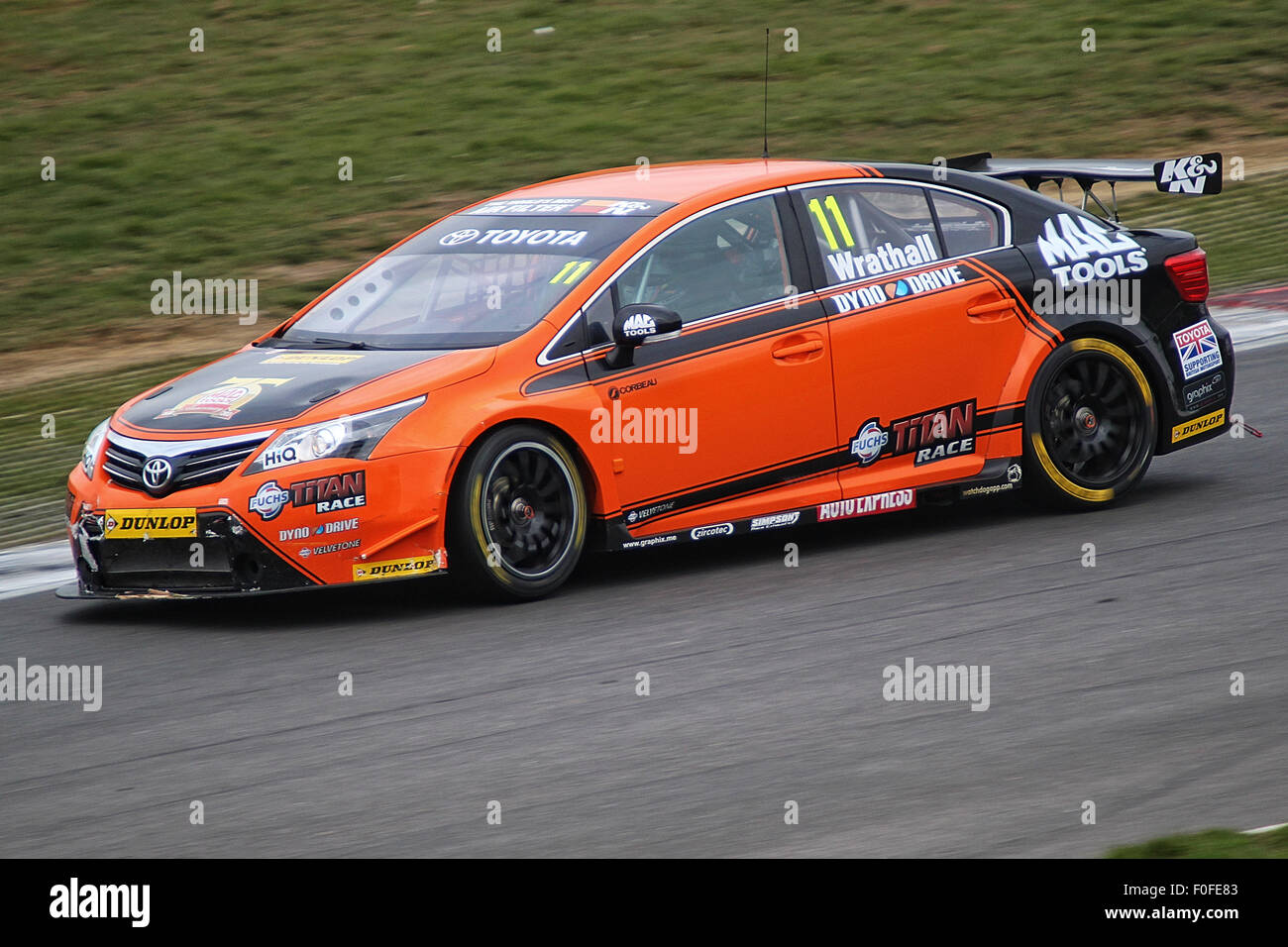 Frank wrathall at the southbank in the dynojet ngtc toyota avensis brands hatch btcc