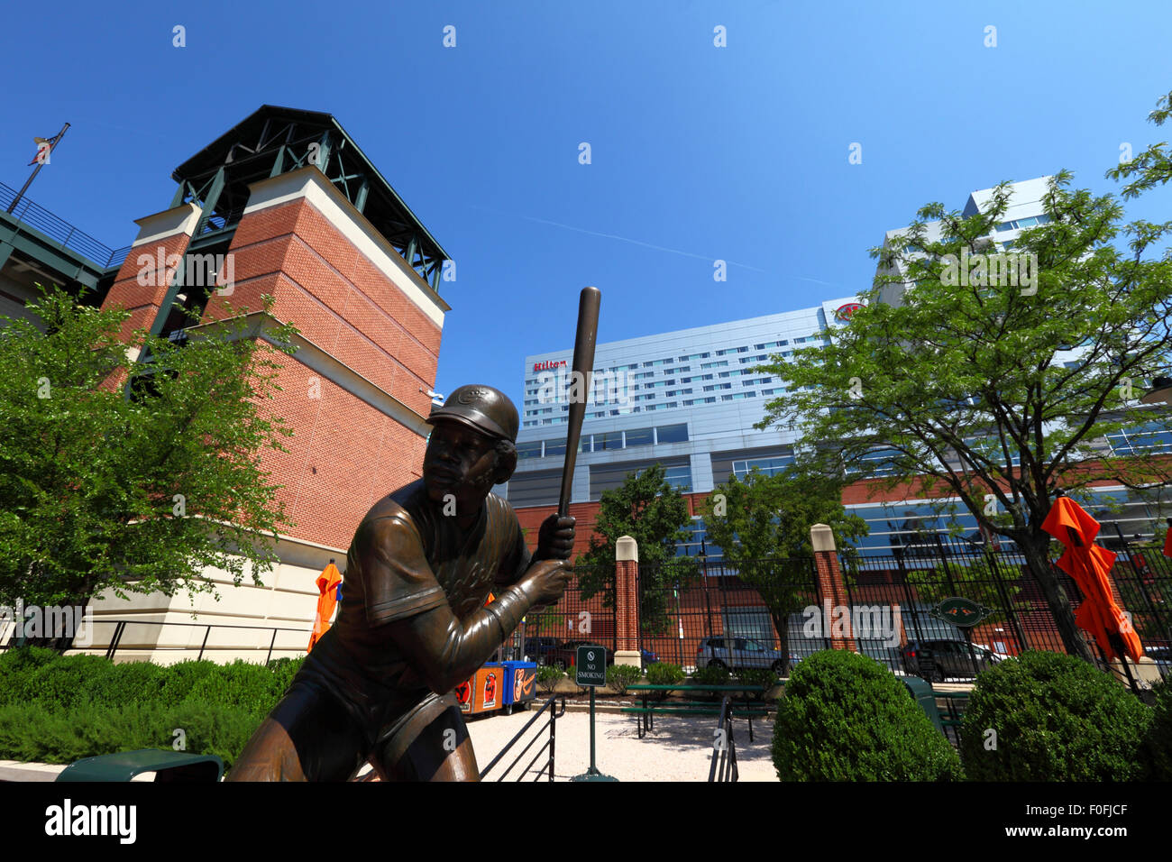 Statue Of Eddie Murray At Oriole Park Home The Baltimore Orioles Baseball Team Maryland USA