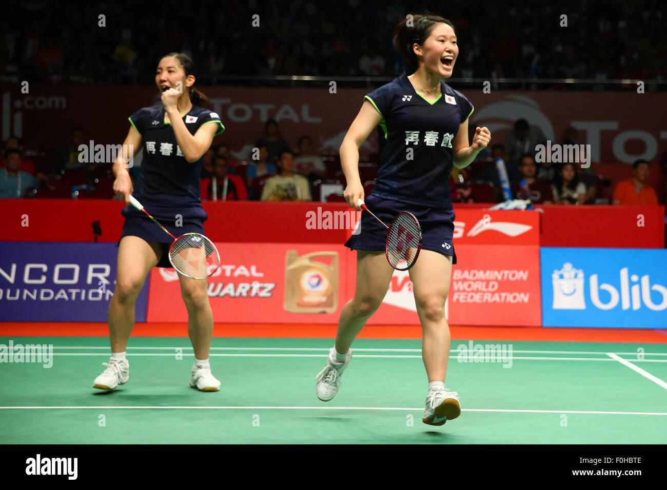 Naoko Fukuman & Kurumi Yonao JPN AUGUST 15 2015 Badminton