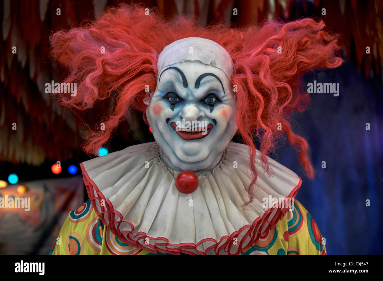 scary clown face figure at a horror show venue ripley u0027s believe