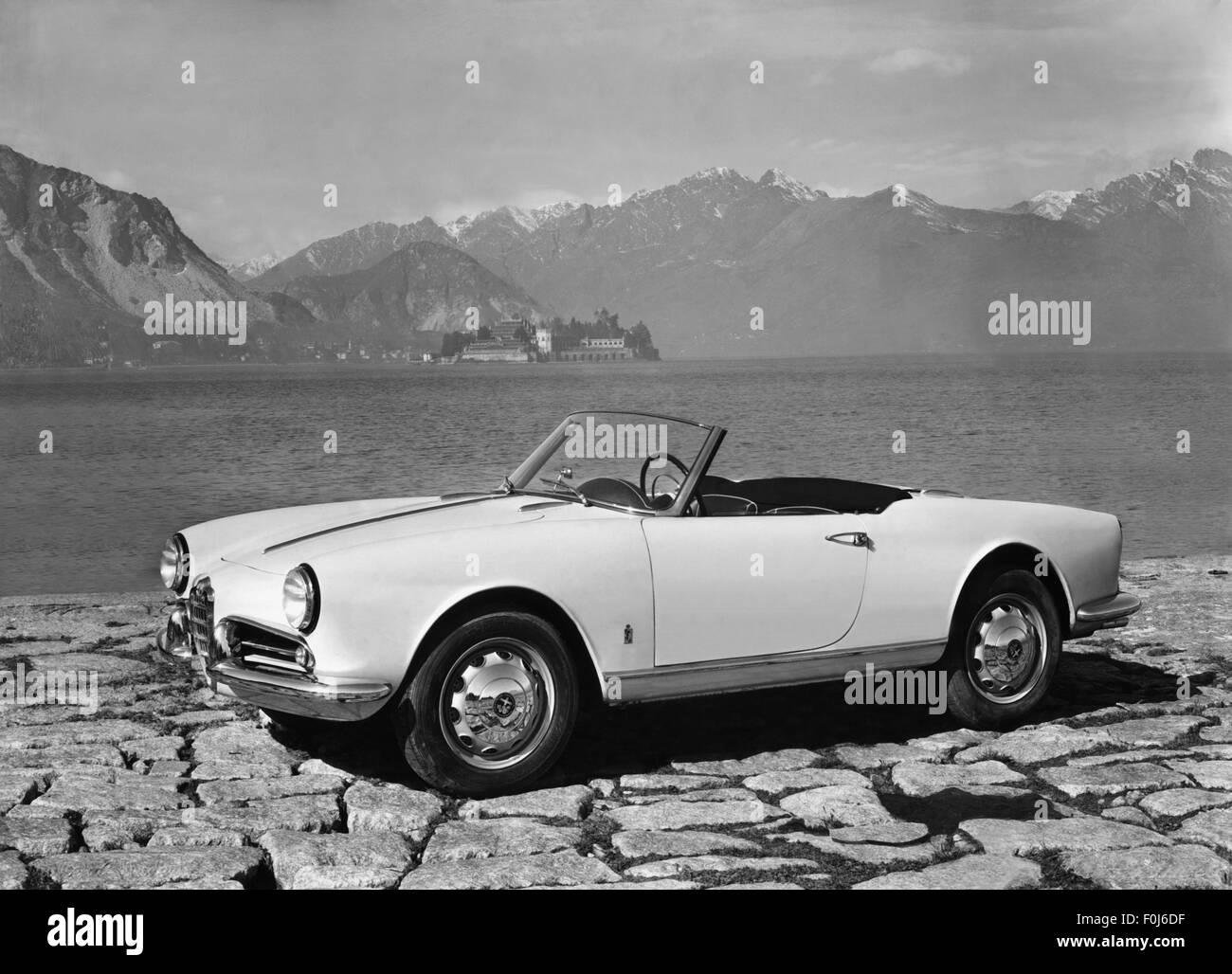alfa romeo giulietta sprint cabrio 1950s stock photo. Black Bedroom Furniture Sets. Home Design Ideas
