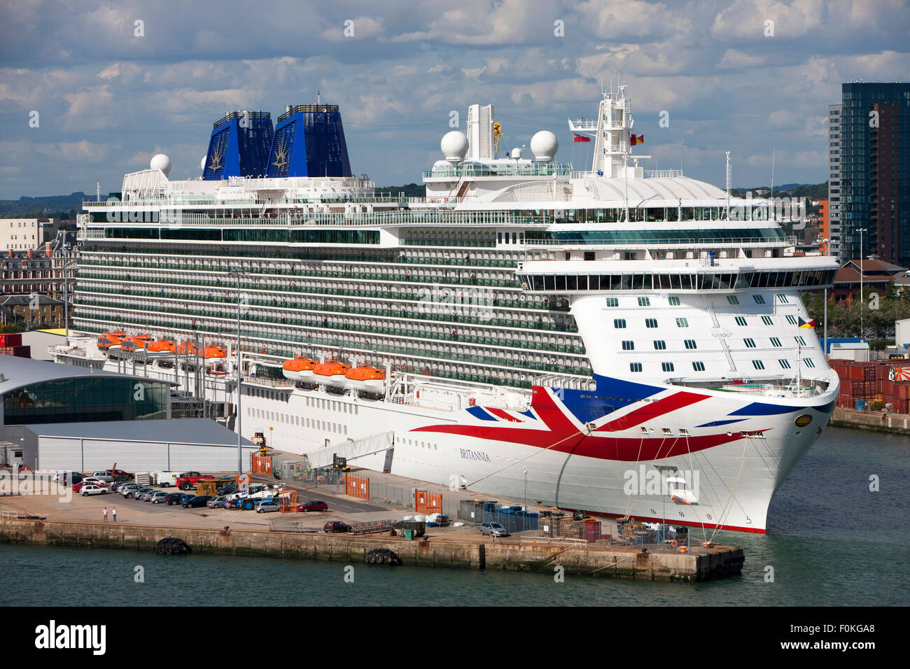 MV Britannia Cruise Ship Of The PO Cruises Fleet Docked At Stock - Britannia cruise ship