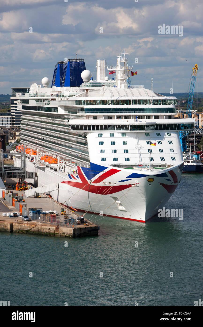 MV Britannia Cruise Ship Of The PampO Cruises Fleet Docked