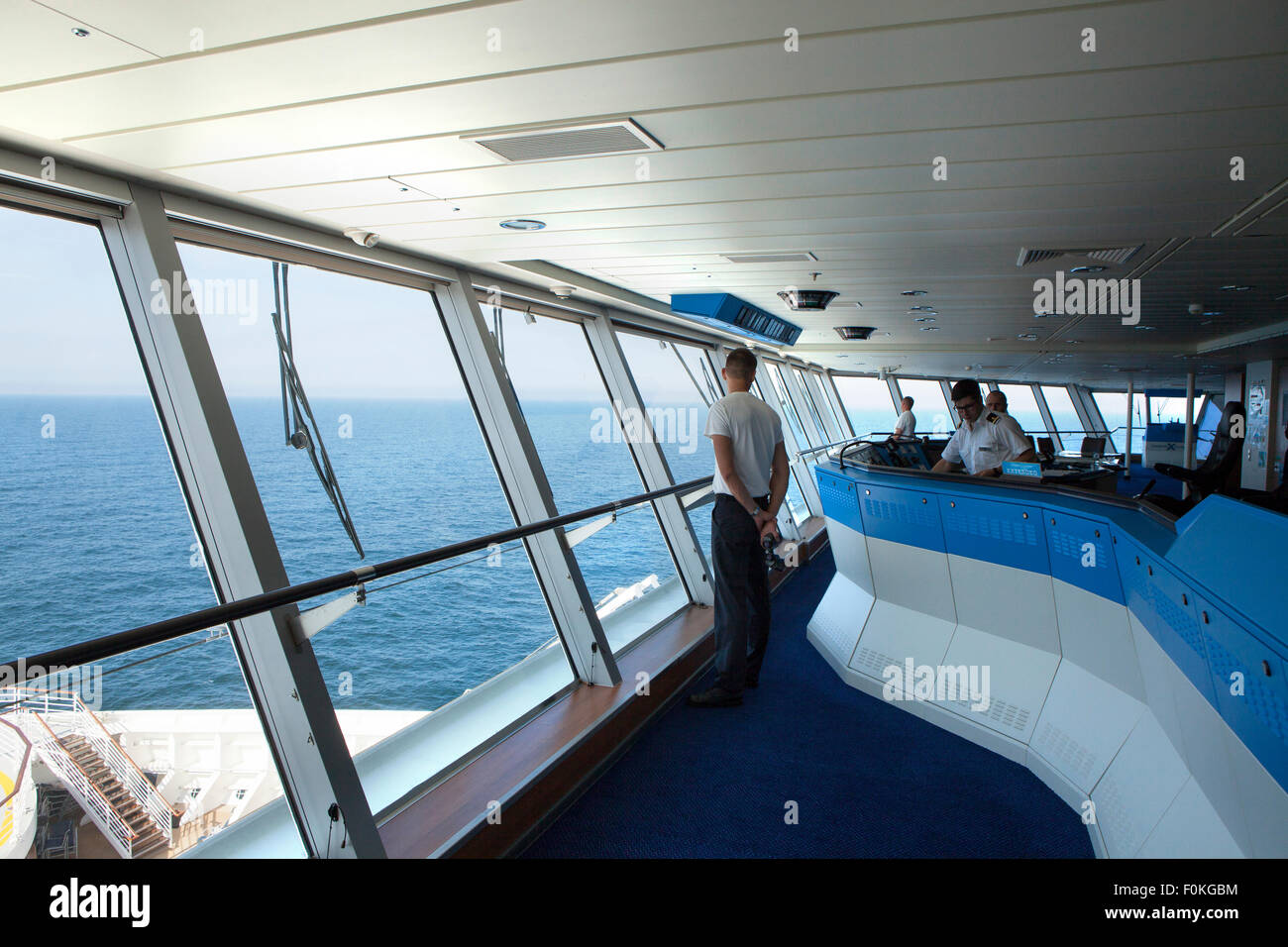 Inside A Modern Cruise Ship Bridge Navigating In The Ocean The - Pictures of the inside of a cruise ship