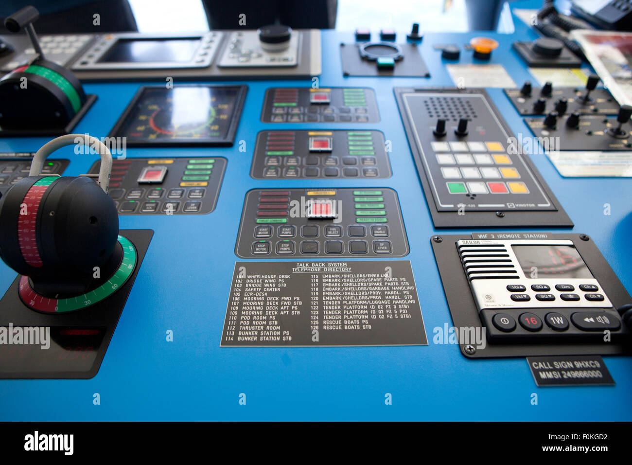 Inside A Modern Cruise Ship Bridge Navigating In The Ocean The - Cruise ship controls