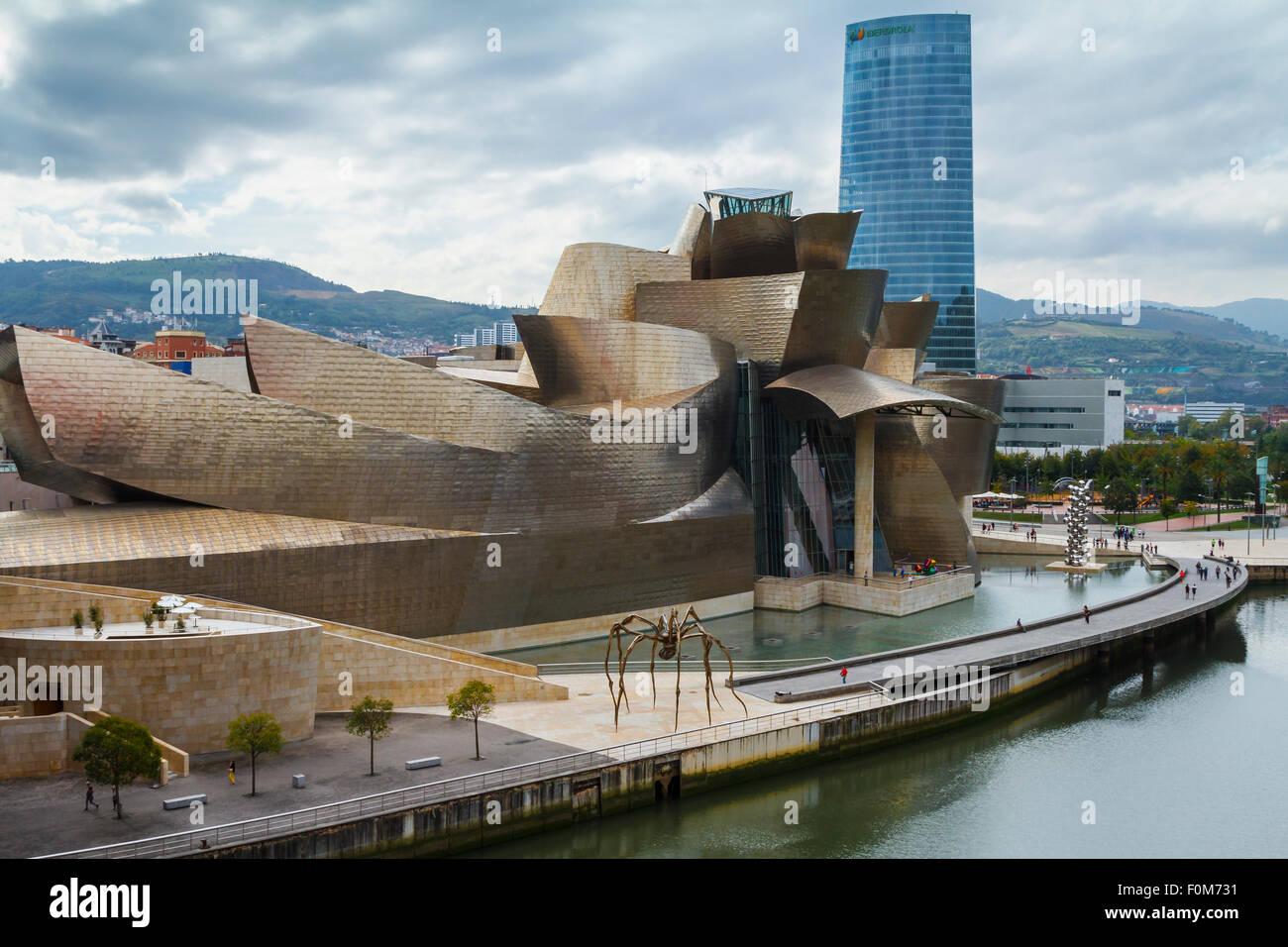Guggenheim Museum of Art. Bilbao, Biscay, Spain, Europe Stock Photo, Royalty ...
