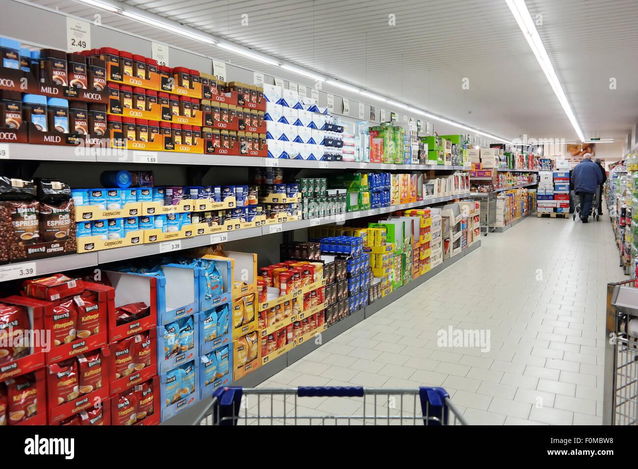 Inside a aldi supermarket stock photo royalty free image for Aldi international cuisine