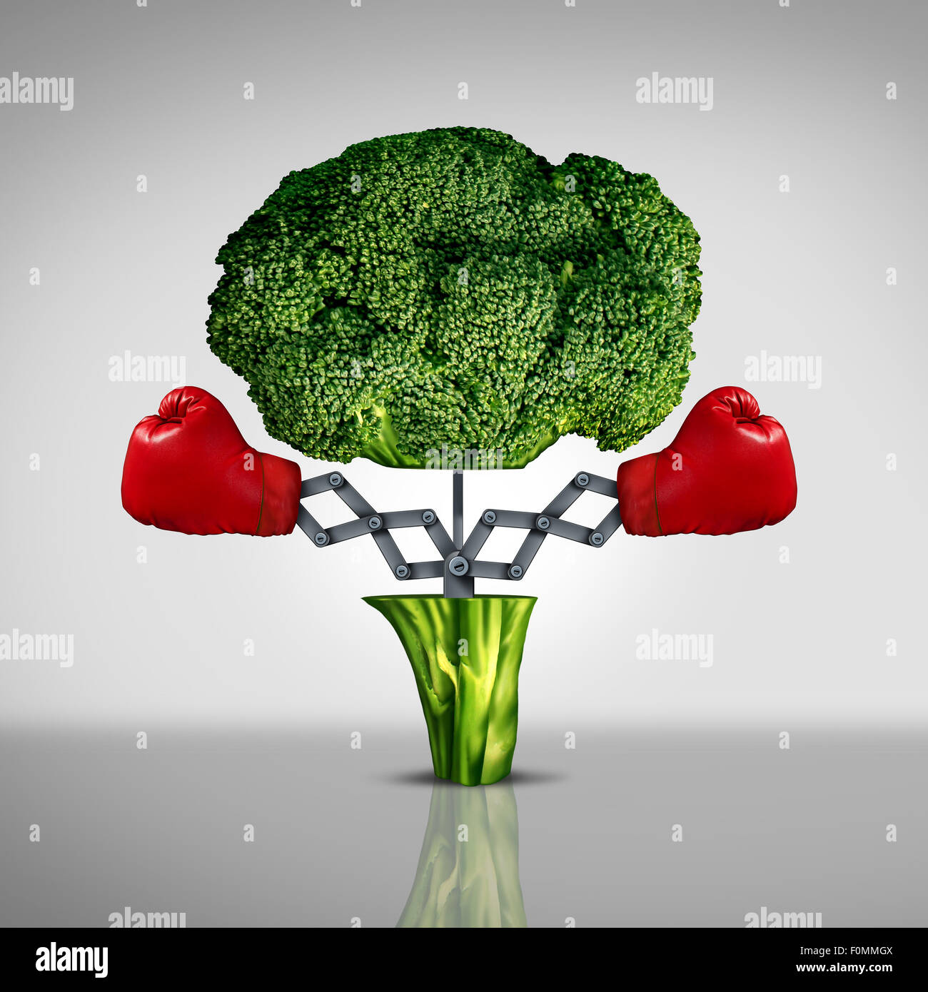 Superfood protection health care concept and cancer disease fighting superfood protection health care concept and cancer disease fighting food symbol as a healthy natural nutrition icon with red boxing gloves emerging out of biocorpaavc Images