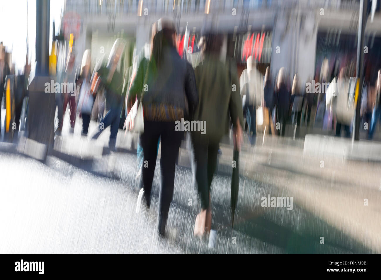 Urban move people walking in city motion blur zoom effect stock photo royalty free image - Moviendo perchas ...